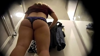Dressing room, scalloped panties