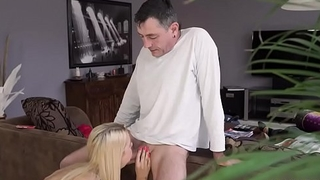Old feet Sleepy guy missed how his father plumbs his girlplaymate