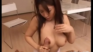 Chunky asian mature sucks gives tit fuck and rides dick wildly