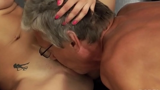 DADDY4K. Dad fucks son'_s beautiful mistress Victoria Daniels on couch